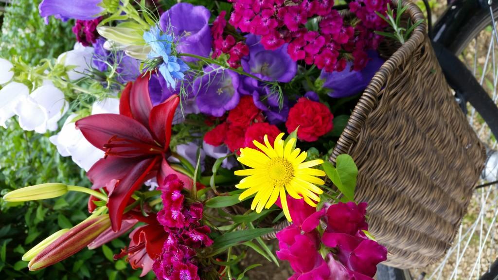 Blumenernte